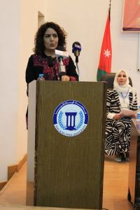 rania masri at podium